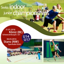 Swiss Ultimate Indoor Junior Championships promotional flyer