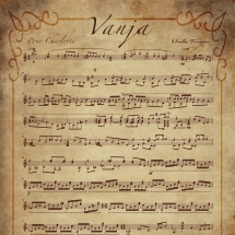 """Vanja"" music sheet design"